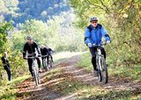 thumbnail - Mountainbiker unterwegs auf der Mountainbike-Strecke in Ebenau/Thüringen