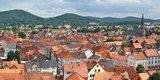 thumbnail - Altstadt von Eschwege vom Nikolaiturm, im Hintergrund die Leuchtberge