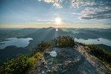 thumbnail - Herzogstand mit Blick auf das Zwei-Seen-Land mit Kochelsee und Walchensee