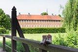 thumbnail - Blick auf den Garten der Klosteranlage Clarholz