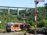 thumbnail - Tour ab Bahnhof PS-Nord, im Hintergrund die Schwarzbachtalbrücke