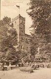 thumbnail - historische Czorneboh-Ansicht mit dem ersten steinernen Bergaussichtsturm der Oberlausitz
