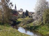 thumbnail - Ansicht auf Ponitz an der Pleiße mit Kirche