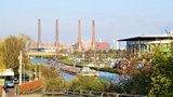 thumbnail - Blick auf Mittellandkanal, Autostadt und VW-Werk