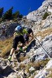 thumbnail - Aufstieg zum Brünnsteingipfel, teilweise seilversichert