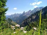 thumbnail - Blick vom Reitweg auf die Ammergauer Alpen