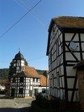 thumbnail - idyllisches Dörfchen Laasan mit historischem Fachwerkrathaus, heute Gemeindehaus