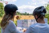 thumbnail - Radfahrer mit Radnetz
