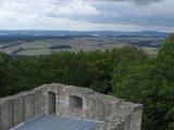 thumbnail - Vom Aussichtspunkt auf der Ruine Hauneck genießen wir eine tolle Fernsicht