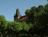 thumbnail - Blick aus dem Schlosspark auf die Katharinenkirche der Burg Bentheim