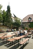 thumbnail - Im Kloster Kreuzberg findet jeden Mittwoch ein Treffen von Mountainbikefahrern statt.