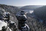 thumbnail - Blick von der Kanzelsteinaussicht ins Bielatal zur Ottomühle
