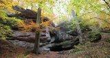 thumbnail - Herbstliche Ludwigsgrotte bei Eisenach ohne Wasserfall