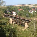 thumbnail - Blick über Viadukt zur Lutherstadt Mansfeld