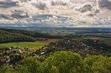 thumbnail - Blick von der Burg Plesse auf Eddigehausen