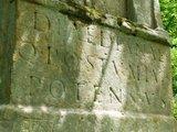 thumbnail - Inschrift des Diana-Denkmals bei Bollendorf