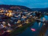 thumbnail - Ausblick auf das Weihnachtsdorf an der Wied