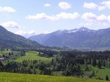 thumbnail - Radtour Kammerlrunde - Blick auf die Ammergauer Alpen