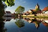 thumbnail - Werraspiegelung mit St.-Bartholomäus-Kirche Themar