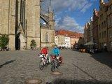 thumbnail - Radler auf dem Osnabrücker Marktplatz