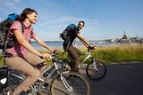 thumbnail - Radfahrer am Cospudener See