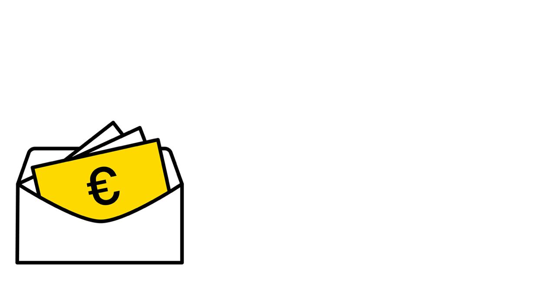 Geld im Umschlag - Icon